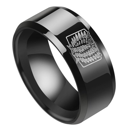 AkoaDa New Japanese Anime  Scout Regiment Wings Engraved Stainless Steel Finger Ring Fashion Jewelry (Japanese Ring)