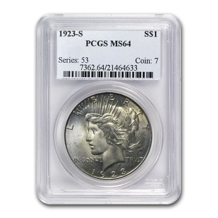 1923-S Peace Dollar MS-64 PCGS
