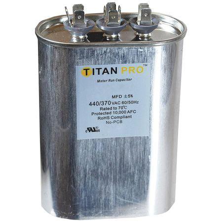 Motor Dual Run Capacitor, Titan Pro, TOCFD605
