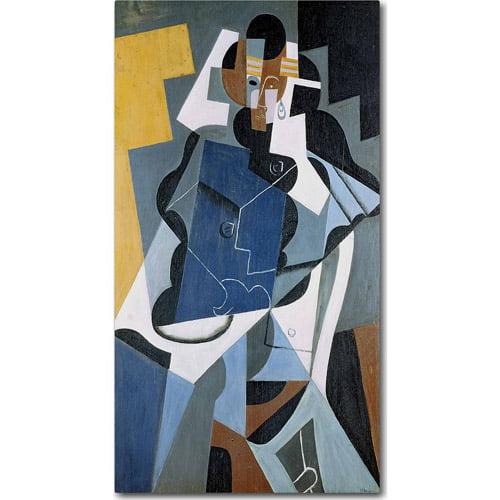 """Trademark Fine Art """"Figure of a Woman, 1917"""" Canvas Art by Juan Gris"""