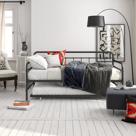 Black Daybed Trundle - Better Homes and Gardens Kelsey Metal Daybed & Trundle, Multiple Colors