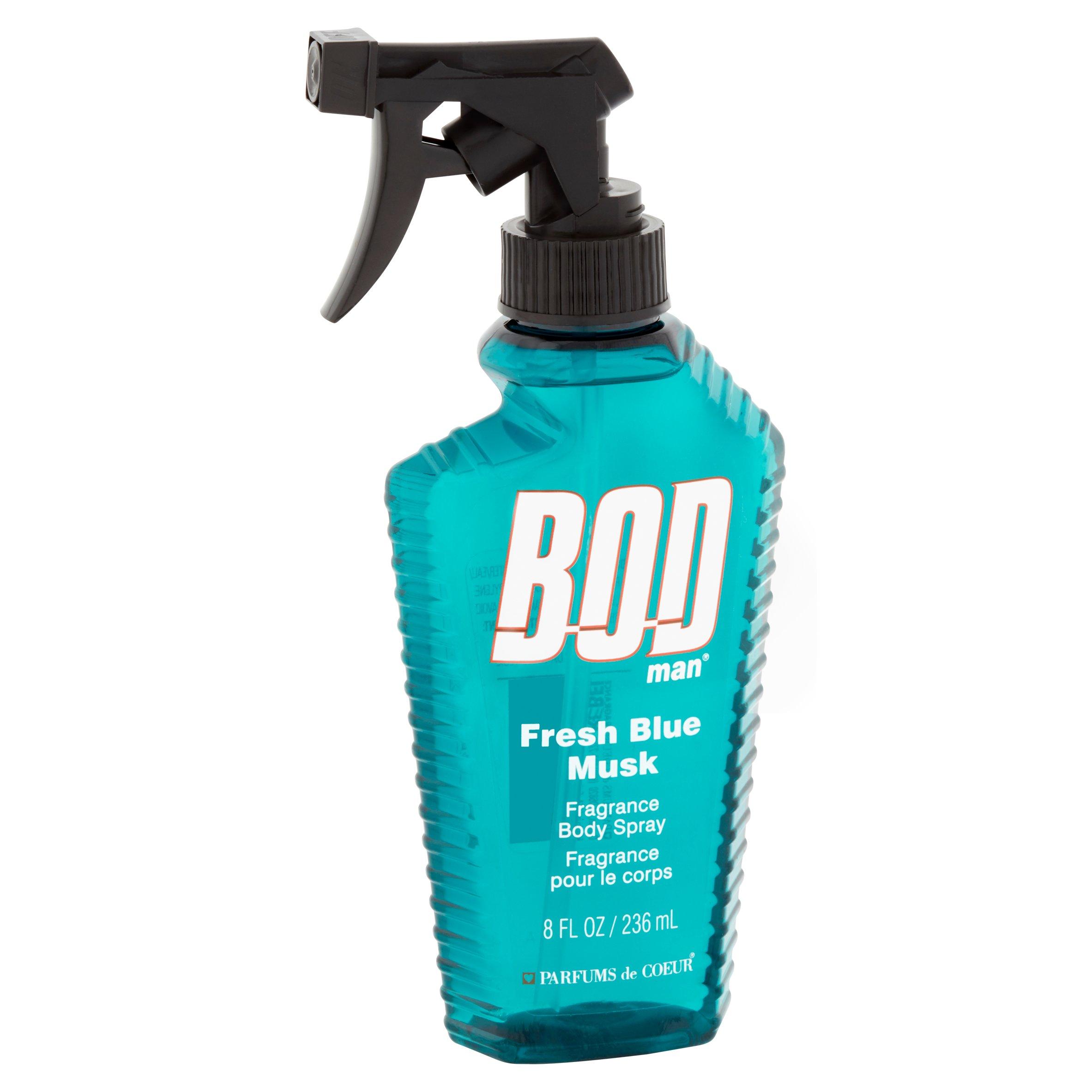 Bod Man Fresh Blue Musk Fragrance Body Spray 8 oz