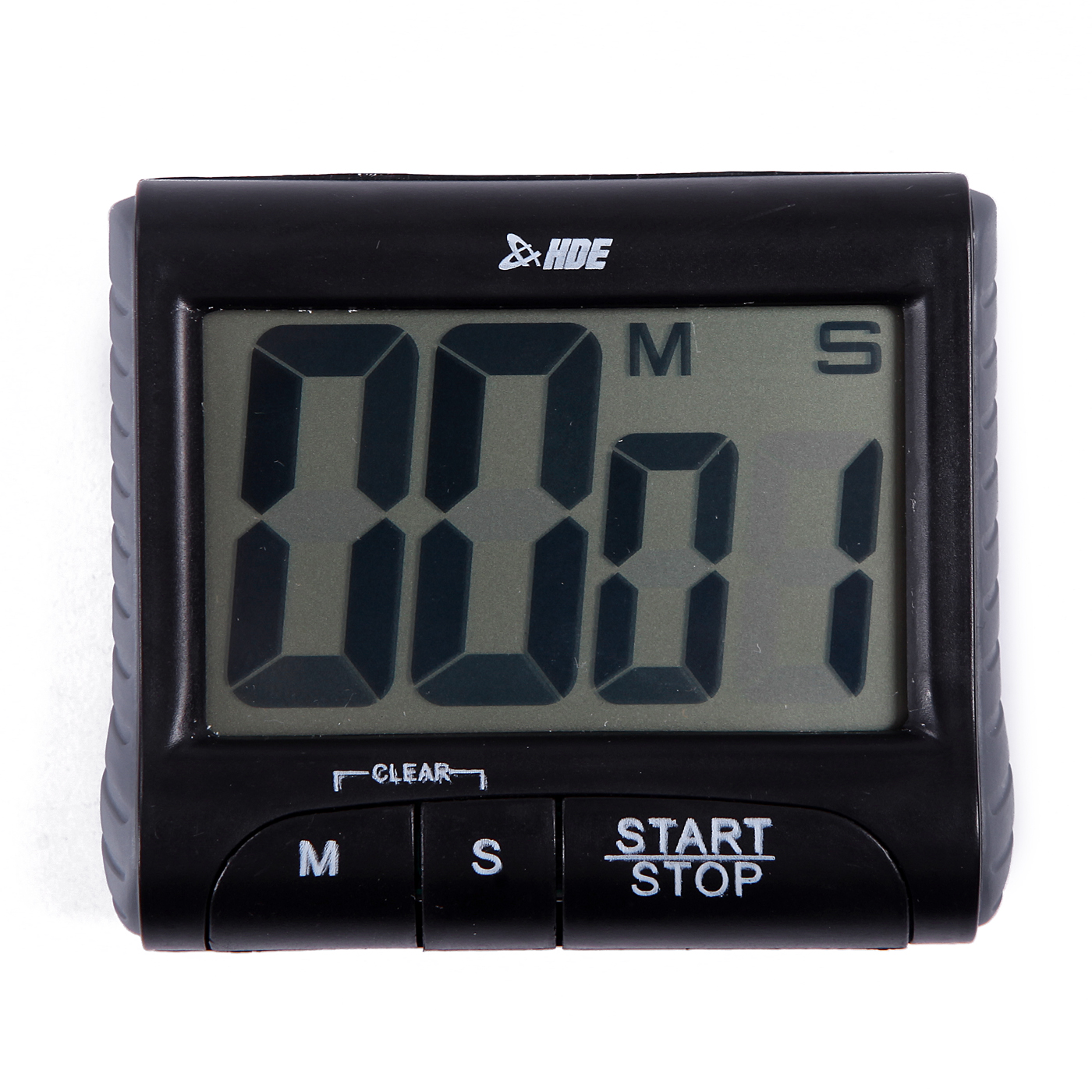 HDE Magnetic Digital Kitchen Timer Electronic Cooking Counting Stop Clock  Alarm (Black)