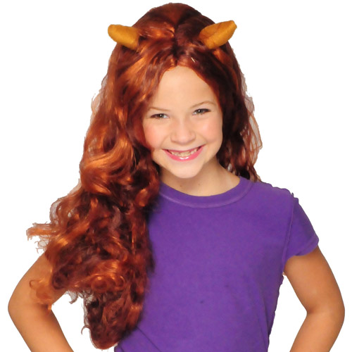 Monster High Brown and Blonde Clawdeen Wolf Wig Child Girl Halloween Accessory