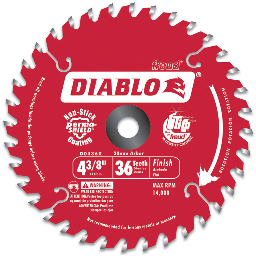 "Diablo D0436X 4-3/8"" Hi-Density 36 Tooth Diablo Cordless Trim Saw Blade"