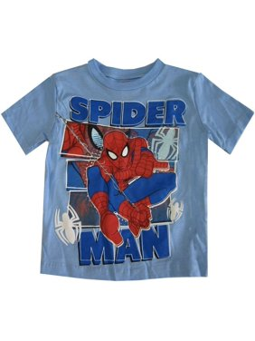 a897e1cfd9 Product Image Marvel Little Boys Sky Blue Spiderman Print Short Sleeved T- Shirt