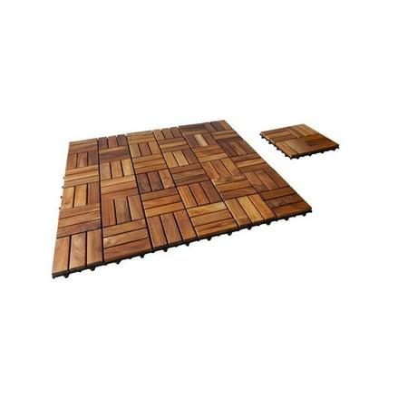 Seateak Interlocking Teak Floor Tiles 10 Pk Walmart Com