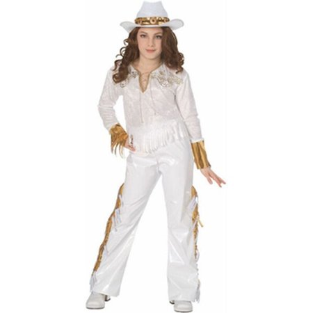 Childs Country Western Diva Costume~Small 4-6 / White](Costume Western)