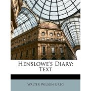 Henslowe's Diary : Text