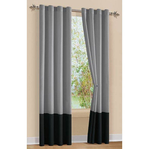 DR International Sandra Striped Semi-Sheer Grommet Single Curtain Panel
