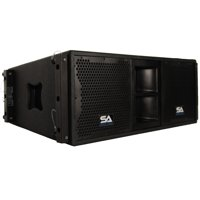 Seismic Audio  - Passive 2x10 Line Array Speaker with Dual Compression Drivers - SALA-210