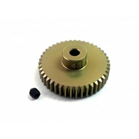 Integy RC Toy Model Hop-ups 3RAC-PG4843 48 Pitch Pinion Gear 43T (7075 w/  Hard Coating)
