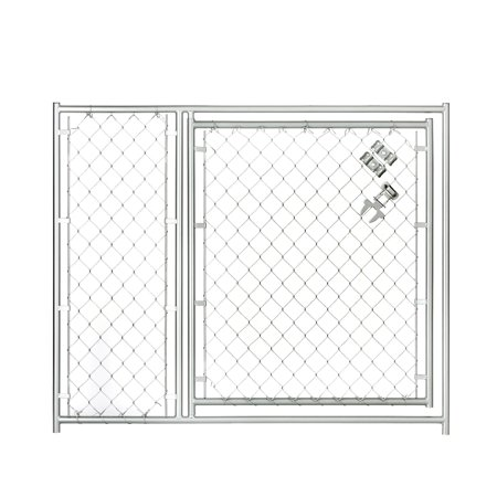 Lucky Dog 5W x 4H ft. Chain Link Modular Gate - 36 in.