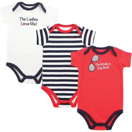 Newborn Baby Boys' Bodysuits 3-Pack