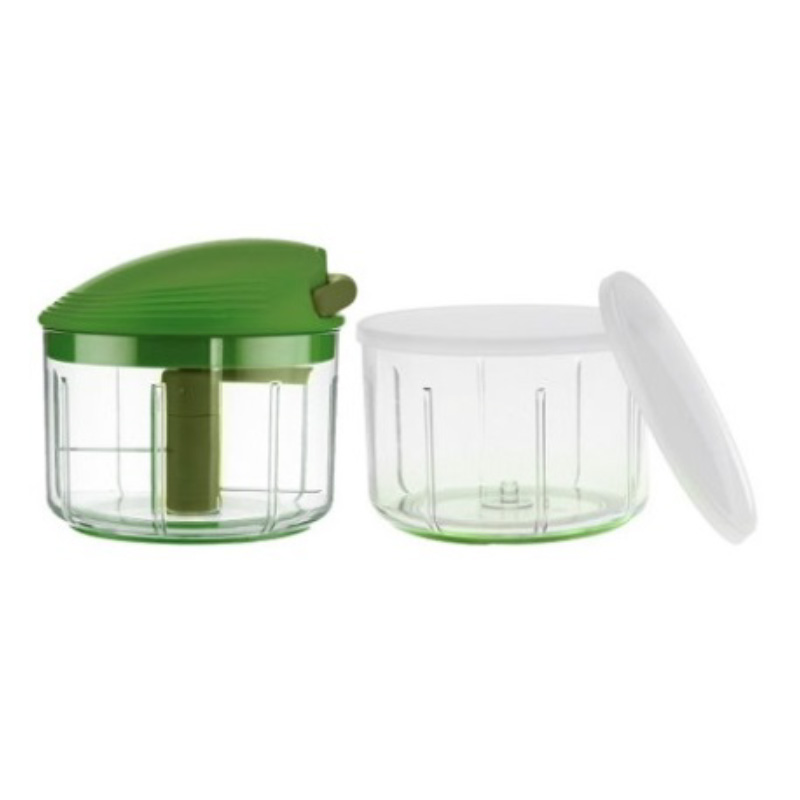 Kuhn Rikon Swiss Pull Chop Manual Food Processor With 2 Containers, Green