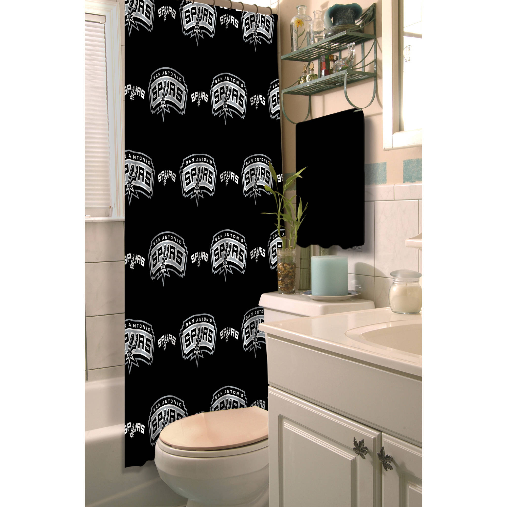 "NBA San Antonio Spurs 72"" x 72"" Shower Curtain, 1 Each"