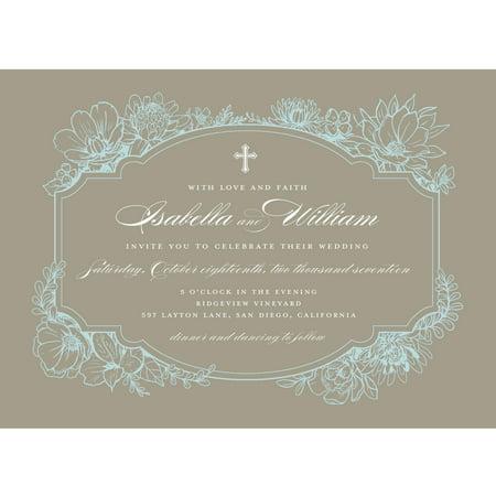Black And White Wedding Invitations (Rustic Garden Standard Wedding)