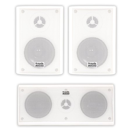 310 Pa Set - Acoustic Audio AA351W and AA35CW Indoor Speakers Home Theater 3 Speaker Set