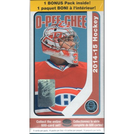 - 2014 2015 O Pee Chee NHL Hockey Unopened Blaster Box Made By Upper Deck That Contains 14 Packs with 6 Cards Per Pack