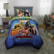 WWE Wrestling Kids Blue Microfiber Bed-in-a-Bag Bedding Bundle Set, Comforter and Sheets