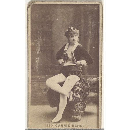 - Card Number 336 Carrie Behr from the Actors and Actresses series (N145-7) issued by Duke Sons & Co to promote Duke Cigarettes Poster Print (18 x 24)