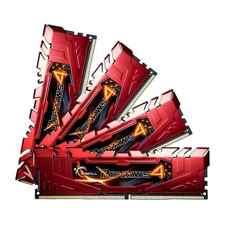 G.SKILL F4-2666C15Q-16GRR Ripjaws 4 Series 16GB (4 x 4GB) 288-Pin DDR4 SDRAM DDR4 2666 (PC4 21300) Desktop