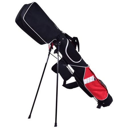 5 Sunday Golf Bag Stand 7 Clubs Carry Pockets Travel Storage Lightweight