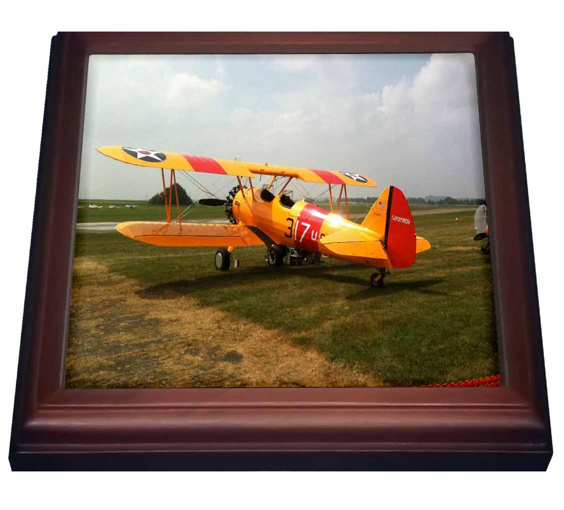 3dRose 3d Rose 3d Rose The Stearman A Pre Wwii Trainer Aircraft, Trivet With