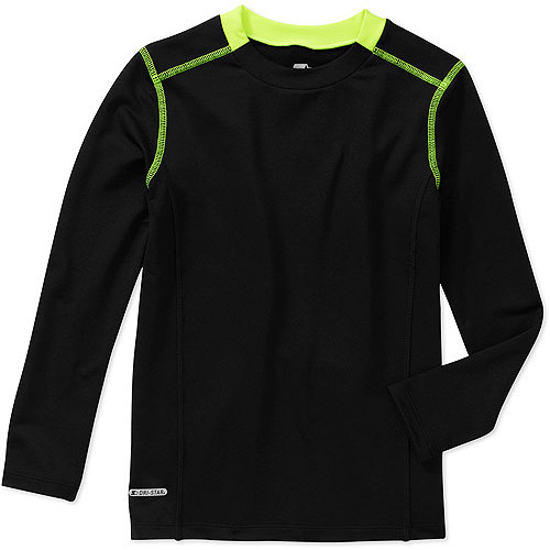 Boys' Loose Fit Stretch Long Sleeve Crew Active Tee