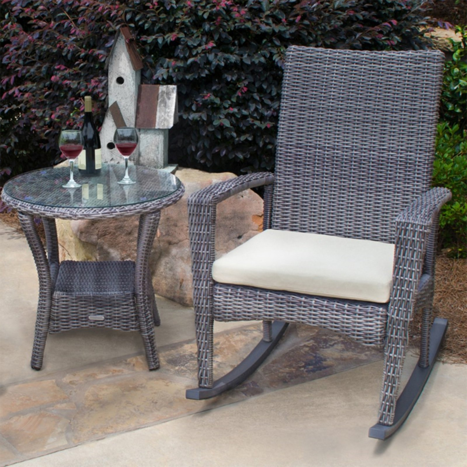 Tortuga Outdoor Bayview Rocking Chair and Side Table