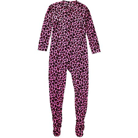 374c294a1050 Women s Plus Print Fleece Footed Pajamas - Walmart.com