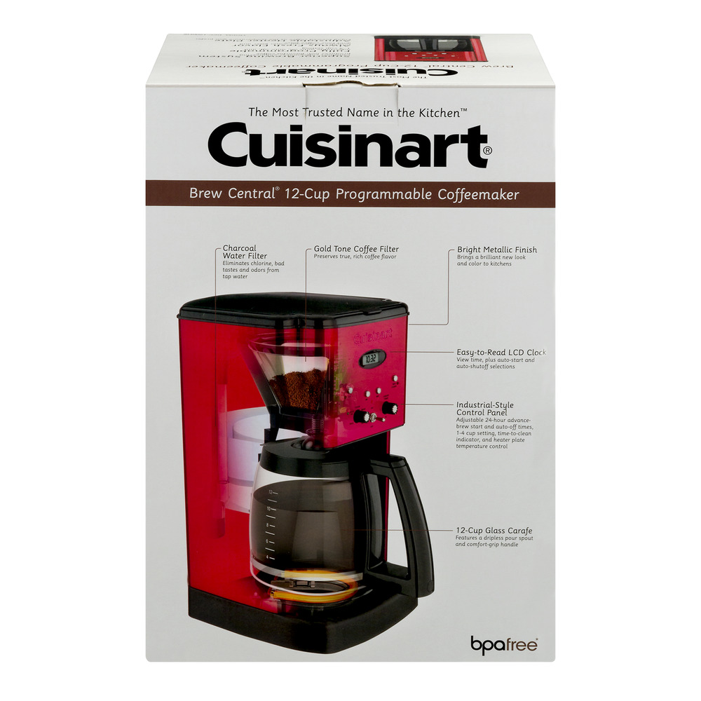 Cuisinart Brew Central 12-Cup Programmable Coffeemaker Red, 1.0 CT