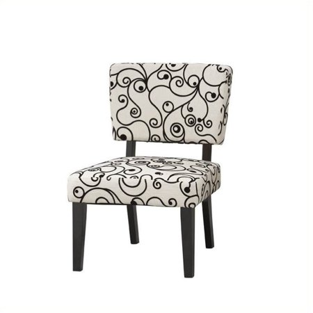 Pemberly Row Accent Chair With Black And White Circles