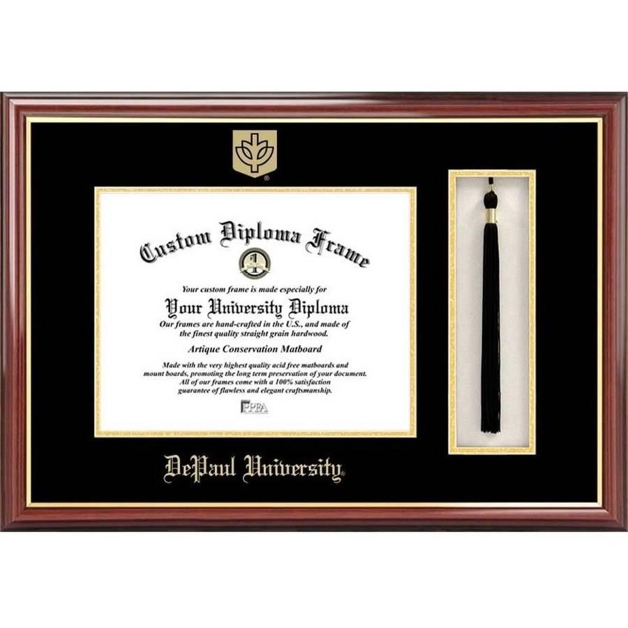"DePaul University 8.5"" x 11"" Tassel Box and Diploma Frame"