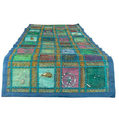 Blue Table Runner 100% Cotton 18