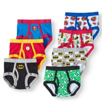 Justice League Underwear Briefs, 7 Pack 100% Combed Cotton (Toddler Boys)