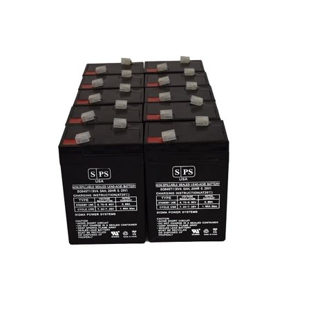 SPS Brand 6V 4.5 Ah Emergency Lights Replacement Battery for Lithonia ELBC06075 (10