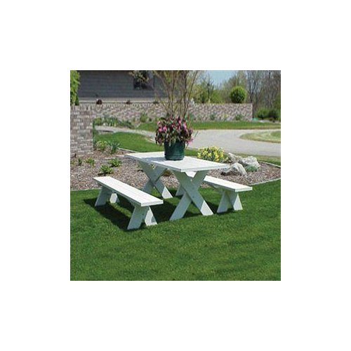 Dura-Trel 11126 Picnic Table with Benches by Dura-Trel
