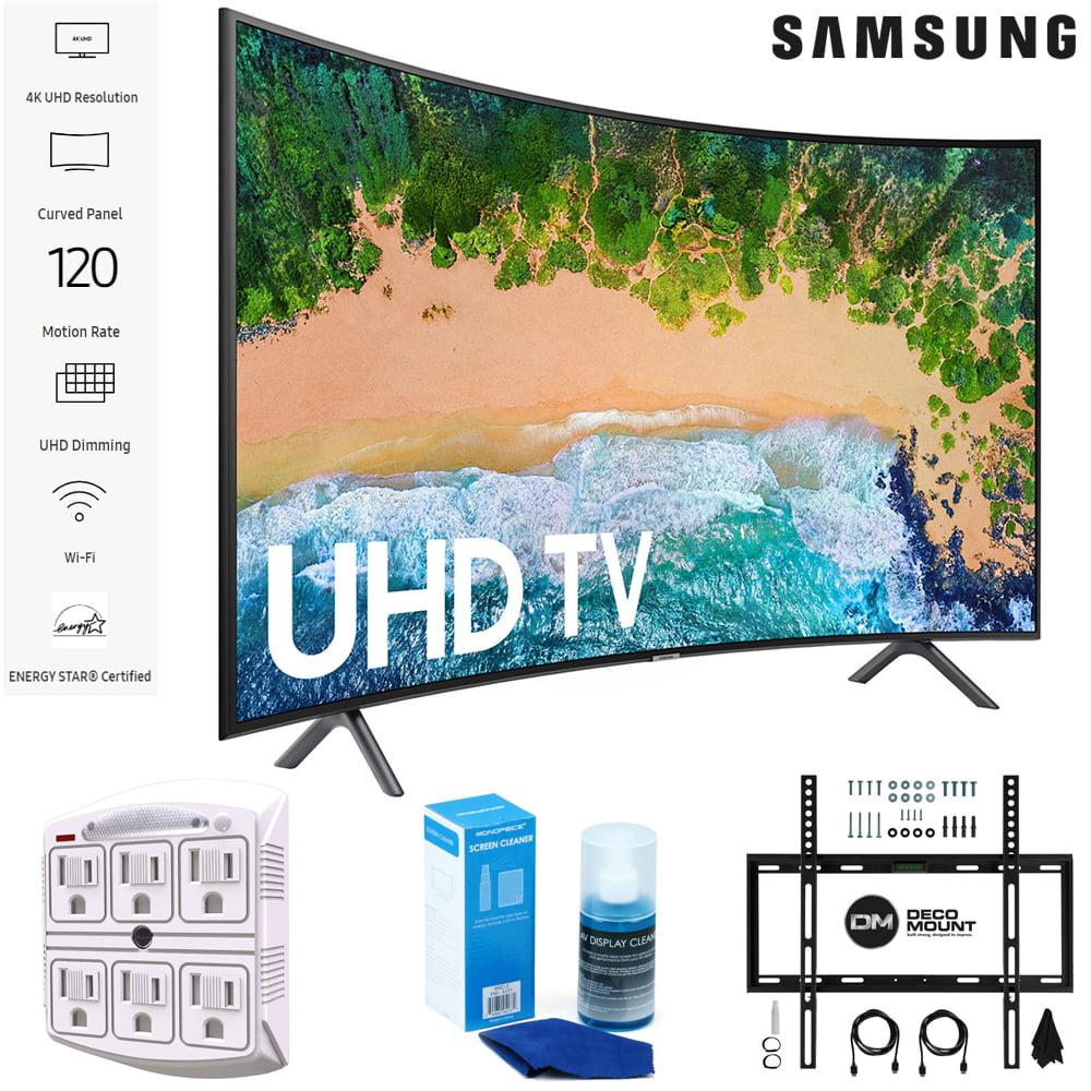 "Samsung 65NU7300 65"" NU7300 Smart 4K UHD TV 2018 w/ Wall Mount + Cleaning Kit (UN65NU7300)"