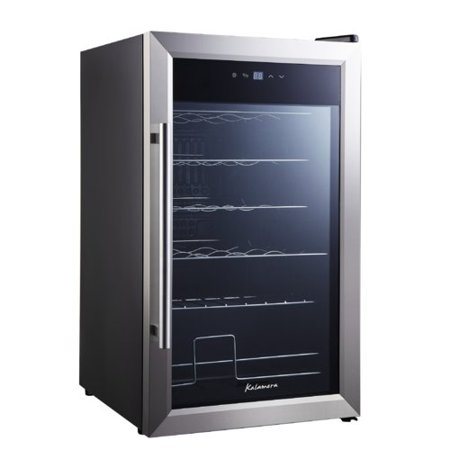 Kalamera 24 Bottle Single Zone Freestanding Wine Cooler Dual Zone Wine Cooler Reviews