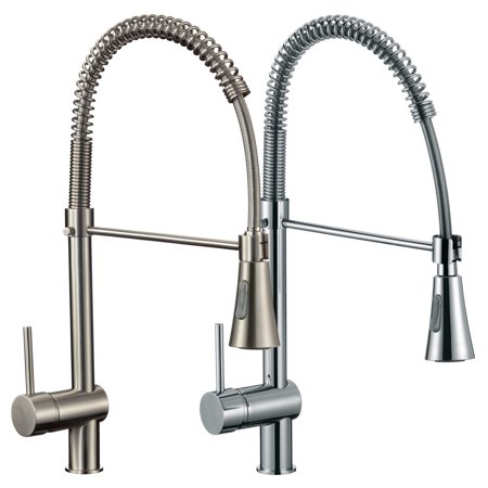FREUER Lavoro Collection: Pull Down Spray Kitchen Sink Faucet, Polished Chrome