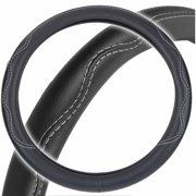 Motor Trend Odorless Car Steering-Wheel Cover, Performance Grip, Faux Leather