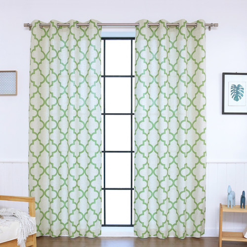 Best Home Fashion, Inc. Moroccan Tile Curtain Panels (Set of 2)
