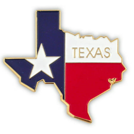 State Flag Lapel Pins - PinMart's State Shape of Texas  and Texas Flag Lapel Pin