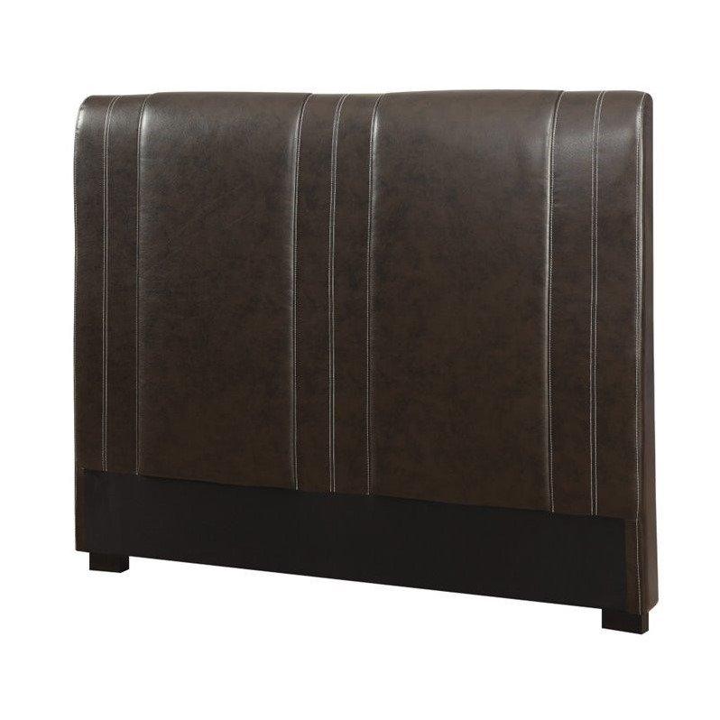 Coaster Furniture Caleb Queen Faux Leather Headboard in B...
