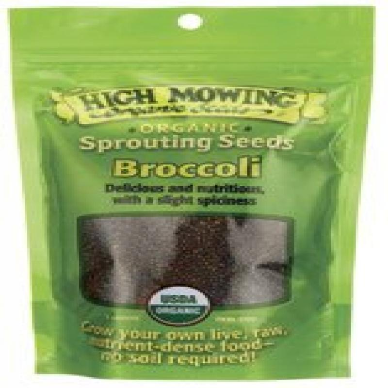 Click here to buy High Mowing Organic Seeds Sprouting Seeds Broccoli 3 oz Pkts.