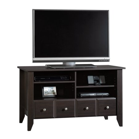 Sauder Shoal Creek Panel Tv Stand Jamocha Wood Finish Walmart Com