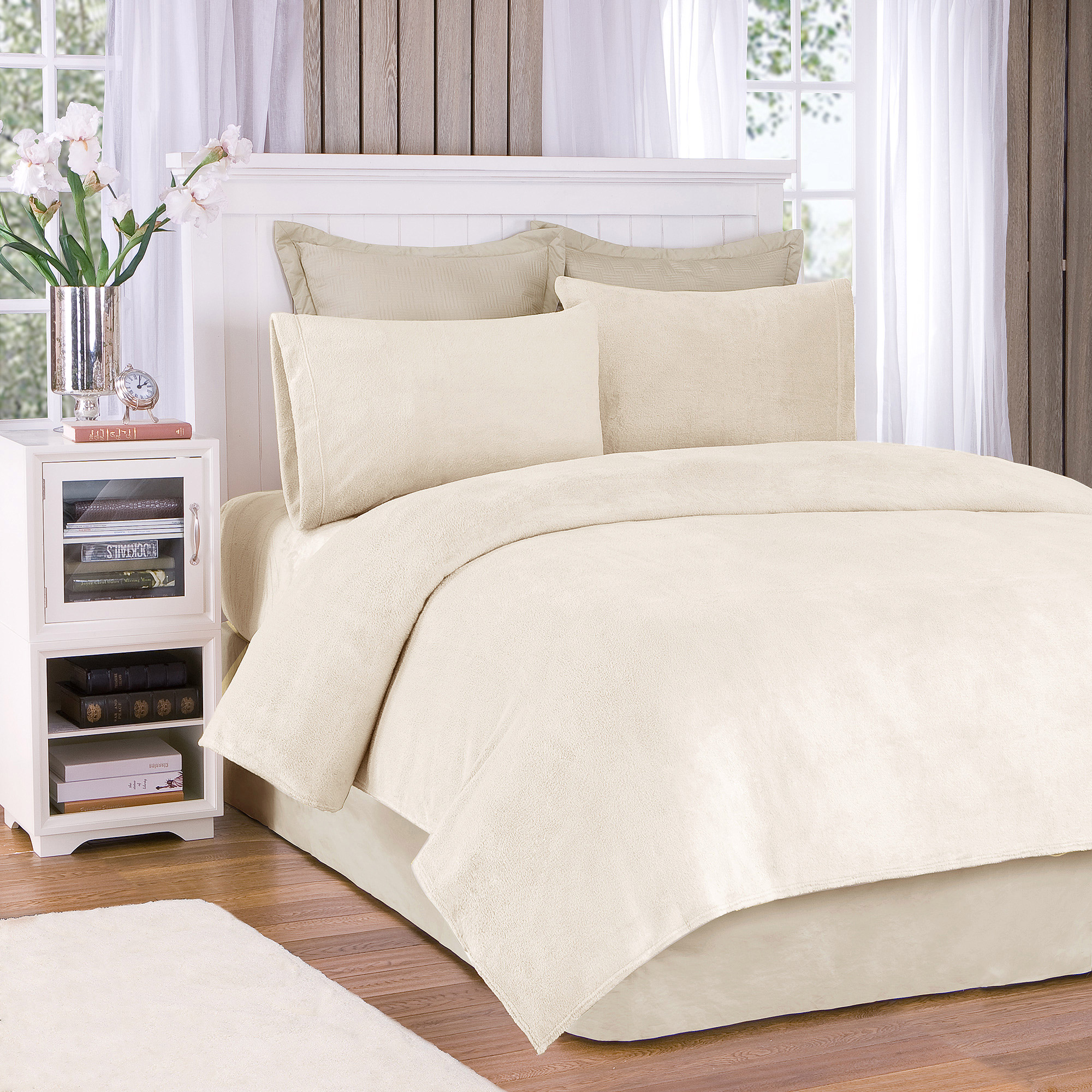 Comfort Classics Soloft Plush Solid Micro Raschel Bedding Sheet Set