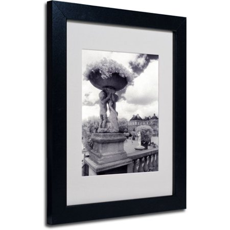 Trademark Fine Art 'Jardin du Luxembourg' Matted Framed Art by Kathy Yates