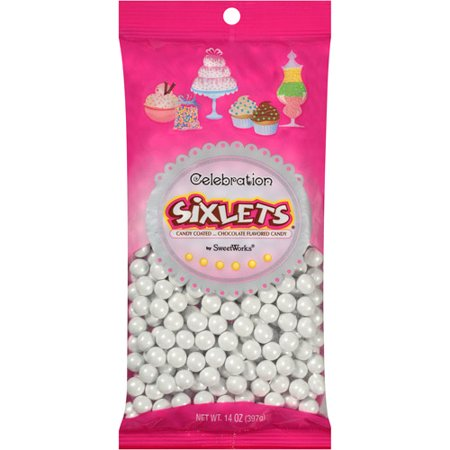 Celebration by SweetWorks Sixlets Chocolate Flavored White Candy, 14 oz](Signets Halloween)